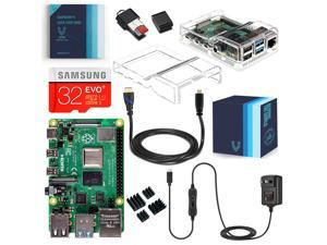Vilros Raspberry Pi 4 Model B Complete Starter Kit with Dual Clear Transparent Case (2GB)