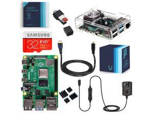Vilros Raspberry Pi 4 Complete Kit with Clear Transparent Fan Cooled Case (2GB)