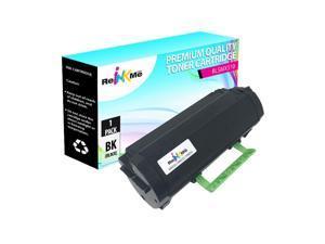 Black, 4-Packs Toner Eagle Toner Refill Kits Compatible with Lexmark MX510 MX511 MX610 MX611 601X 60F1X00 with Chips.