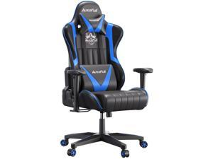AutoFull Gaming Chair Desk Chair Office Chair Racing Style Ergonomic High Back Computer Chair with Height Adjustment, Headrest and Lumbar Support E-Sports Swivel Chair, Blue