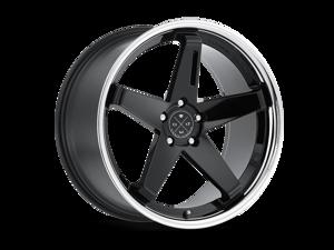 Blaque Diamond BD21 20x11.5 5x120 ET10 Gloss Black/Chrome Lip Concave Wheels Rims