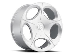 Blaque Diamond BD77 24x10 5x120 ET25 Silver Machined Concave Wheels Rims