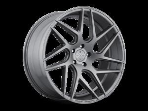 Blaque Diamond BD3 20x9 5x127 ET15 Matte Graphite Concave Wheels Rims