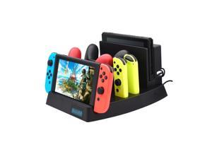 OSTENT Multifunction Charger Charging Dock Storing Stand Mount for Nintendo Switch Console Controller
