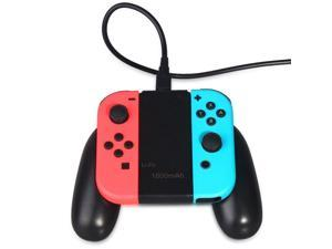 1800mAh Rechargeable Charging Grip Dock with Indicator Light for Nintendo Switch Joy-Con