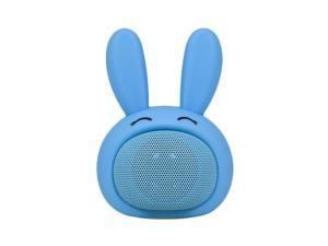 Compact iCute Bluetooth Wireless Speaker Blue Rabbit