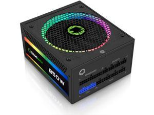 ATX Power Supply 850W Fully Modular 80+ Gold Certified with Addressable RGB Light - Vairous Color Mode, GAMEMAX RGB-850