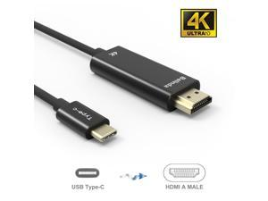 USB C to HDMI Cable(4K@60Hz), uni USB Type-C to HDMI Cable [Thunderbolt 3 Compatible] for MacBook Pro 2018/2017, MacBook Air/iPad Pro 2018, Surface Book 2, Samsung S10, and More - black - 6FT/1.8m