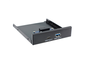"""USB 3.0 Type-A & USB 3.1 Type-C USB-C Dual Port to Motherboard 20Pin Front Panel for 3.5"""" Floppy Bay - (Cable Length: Other)"""