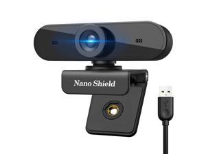 HD Webcam 1080p with Microphone Web Camera Noise Cancelling Mic, Gaming Camera Streaming, Skype Web Cam for Desktop PC Laptop Computer, USB Plug Play for Windows 10/8 / 7 Mac OS X, Wide Angle