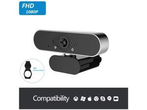 1080P Full HD Webcam, USB Computer Web Camera with Microphone, HD Web Camera for Desktop Computer, PC, Laptop Video Conferencing, Recording, and Streaming