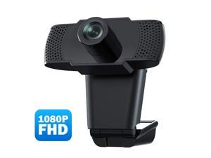 Usogood Webcam with Microphone, 1080P USB Web Camera PC Camera Web Cam for Online Teaching/Business Meeting,Plug and Play Face Camera with Manual Focus for PC, Desktop or Laptop
