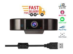 Webcam with Microphone,USB Plug and Play 1080P HD Webcam,Work from Home Webcam, Desktop Mac PC Web Cam, Web Camera for Computer Streaming Study Video Teaching Calling Recording Conferencing Gaming