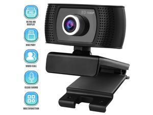 Full HD 1080P Webcam   Streaming Webcam Computer Camera   Adjustable Focusing USB Computer Camera for PC Laptop Desktop Video Calling   Conferencing Webcam