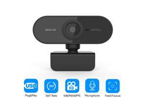 HD Webcam with Microphone, 1080p Streaming Web Camera Autofocus, Computer Webcam with Microphone for Skype, Video Calling, Conferencing, Recording