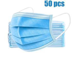 50 Pcs Professional Disposable Face Masks Medical Mouth Cover 3 Layer Protect 100% Cotton, Reusable or Disposable
