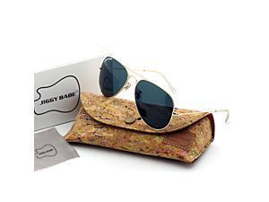 Top Original Brand Name Designer 3025 Aviator Sunglasses UV400 Retro Large Metal Glass Mirror Men Women High Quality Fashion Sun Glasses Eyewear Classic Vintage Driving Police Googles 58mm Black Grey