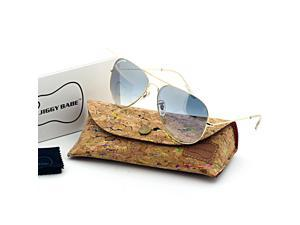 3740445c40a Top Brand Name Designer 3025 Aviator Sunglasses Gradient UV400 Aviator  Retro Large Metal Men Women