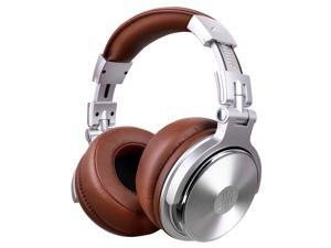 OneOdio Over-Ear DJ Headphones Wired Foldable Headset With 50mm Driver Protein Earmuffs and Shareport for Recording Monitoring Podcast PC TV