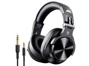 OneAudio Fusion Bluetooth Over Ear Headphones, Studio Recording Headphones with Share-port, Wired and Wireless Professional Monitor DJ Headphones with Stereo Sound for Electric Drum Piano Guitar AMP