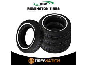 4 New Remington LX Touring W/W White Side Wall 155/80R13 79S All Season Tires