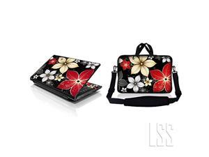 lss 15 15.6 inches laptop & macbook pro sleeve bag with matching laptop skin sticker combo   carrying case w/handle & adjustabl