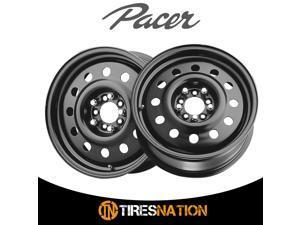 (2) Pacer 60683B FWD BLACK MOD 17X7 5X100/5X115 72.00 Hub +41 Black Wheel Rim