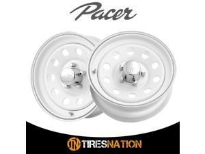 (2) Pacer 43255W WHITE MOD 14X6 5X4.50 83.70 Hub +00 Offset White Wheel Rim