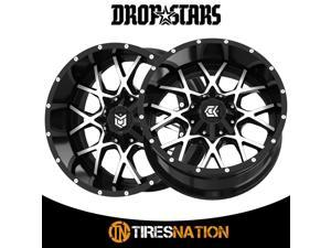(2) Dropstars 011645MB 18X9 6X135/6X5.50 108.00 Hub +00 Offset Black Wheel Rim