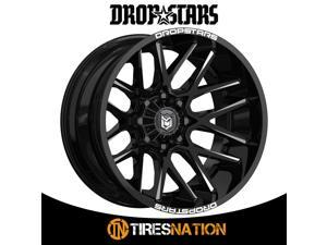 (1) Dropstars DEEP CONCAVE 20X10 5X4.50/5X5.00 78.00 Hub -25 Black Wheel Rim