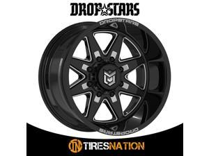 (1) Dropstars 035655BM 20X12 5X5.50/5X150 110.00 Hub -44 Offset Black Wheel Rim