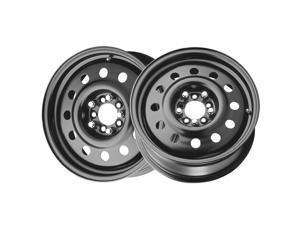 (2) Pacer 60683B FWD BLACK MOD 13X5.5 4X100 72.00 Hub +35 Offset Black Wheel Rim