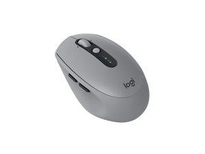 Logitech Wireless Mouse M590 Multi-Device Silent with FLOW cross-computer control and file sharing for PC and Mac - Grey