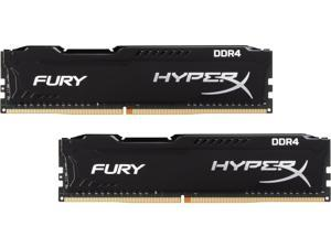 HyperX Fury 16GB (2 x 8GB) DDR4 2666MHz DRAM (Desktop Memory) CL16 1.2V Black DIMM (288-pin) HX426C16FB2K2/16 (Intel XMP, AMD Ryzen)