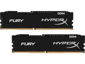 HyperX Fury 8GB (2 x 4GB) DDR4 2133MHz DRAM (Desktop Memory) CL14 1.2V DIMM (288-pin) HX421C14FBK2/8 (Intel XMP, AMD Ryzen)