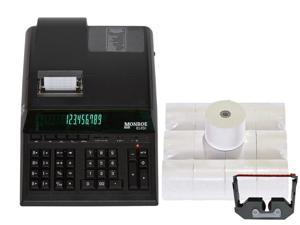 Genuine Monroe 8145X 14-Digit Printing Calculator With Supplies!