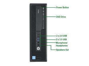 HP G1 Core i5, 3.2GHz SFF Computer Tower PC, 8GB Ram, 120GB M.2 SSD, 3TB HDD, BTO Wireless Keyboard and Mouse, Wifi / Bluetooth, AMD Radeon RX 550 Phoenix 2GB GDDR5 Win 10 Pro (Renewed)