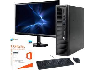 HP 800 G1 Ultra Small Desktop PC, Intel Core i5 3.2GHz Processor, 8GB Ram, 240GB SSD, HP 23.8 Inch Monitor, BTO WIFI & Bluetooth, 16GB Flash Drive, Microsoft Office 365, Win 10 Pro (Renewed)