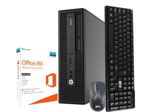 HP 600 G1 SFF Computer Desktop PC, Intel Core i5, 3.2GHz, 8GB Ram, 120GB M.2 SSD, 2TB HDD, Office 365 Personal, BTO Wireless Keyboard and Mouse, Wifi / Bluetooth, Win 10 Pro (Renewed)