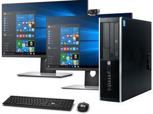 "HP Elite SFF Computer Desktop PC, Intel Core i5 3.3GHz, 16GB Ram, 1TB Hard Drive, Wireless Keyboard & Mouse, Wifi | Bluetooth, New Dual 19"" FHD Monitor, BTO 1080p Webcam, Windows 10 (Renewed)"