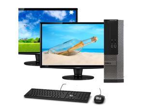 Dell OptiPlex 3020 SFF Computer Desktop PC, Intel Core i5 Processor, 16GB Ram, 120GB M.2 SSD, 1 TB HDD, New DUAL Dell 19 Inch Monitor, BTO Wi-Fi & Bluetooth, Windows 10 Pro (Renewed)