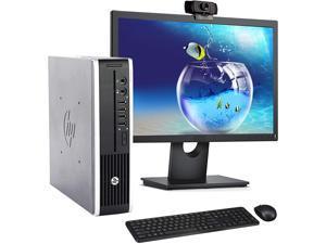 HP 8300 USFF Computer Desktop PC, Intel Core i7 3.4GHz Processor, 8GB Ram, 500GB Hard Drive, WiFi   Bluetooth, 1080p Webcam, Wireless Keyboard & Mouse, 22 Inch Monitor, Windows 10 (Renewed)