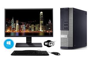 "Dell Optiplex 790 SFF Flagship Premium Business Desktop Computer Bundle(Intel Quad-Core i5-2400 up to 3.4GHz, 8GB RAM, 500GB HDD, DVD, WiFi, VGA, DisplayPort, Windows 10 Pro) 19"" Generic LCD Monitor"