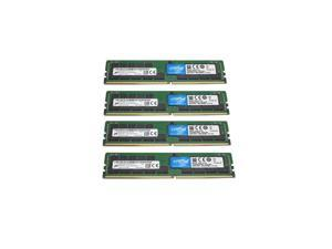 128GB Kit (4 x 32GB) DDR4-3200 PC4-25600 ECC Registered Memory for ASRock Rack EPYCD8-2T Board by Crucial server memory