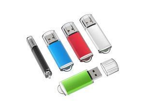 10 Pack 4GB USB 20 Flash Drive Memory Stick Thumb Drives 5 Mixed Colors