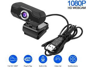 US inventory 1080P HD Webcam Desktop Laptop Computer Web Cam Camera Built-in Microphone for Online Video Calling chat SNS