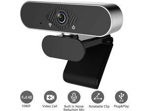 Webcam HD 1080p Web USB Camera, USB PC Computer Webcam with Microphone, Laptop Desktop Full HD Camera Video Webcam 110-Degree Widescreen, Pro Streaming for Recording, Calling, Conferencing, Gaming