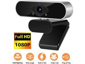 HD Webcam with Microphone, easyday 1080P Streaming Computer Web Camera with 120-Degree Wide View Angle, USB PC Webcam for Video Calling Recording Conferencing