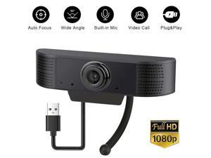 Webcam with Microphone, easyday 1080P HD Streaming USB Computer Webcam [Plug and Play] [30fps] for PC Video Conferencing/Calling/Gaming, Laptop/Desktop Mac, Skype/YouTube/Zoom/Facetime