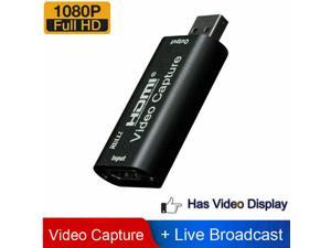 easyday Audio Video Capture Cards HDMI to USB 1080p USB2.0 Record via DSLR Camcorder Action Cam for High Definition Acquisition, Live Broadcasting